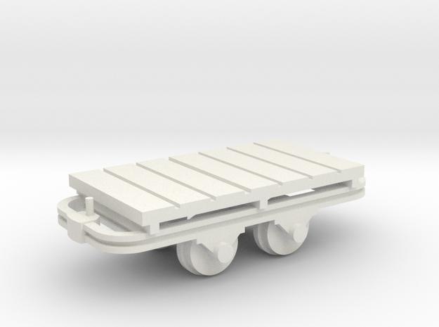 Flachwagenlore - 1:35 in White Natural Versatile Plastic