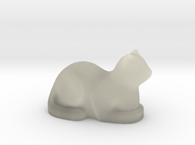 Stylized Cat 3d printed Transparent Detail