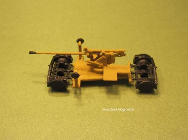 1/144 5cm Flak 41 on trailer in White Natural Versatile Plastic