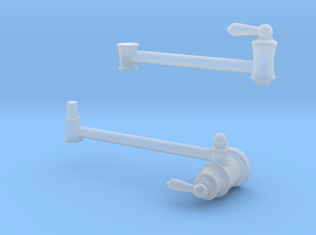 Pot Filler: Traditional (*Mobile Arm*)  in Smooth Fine Detail Plastic