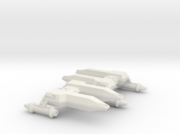 3125 Scale LDR Frigates (2) CVN in White Natural Versatile Plastic
