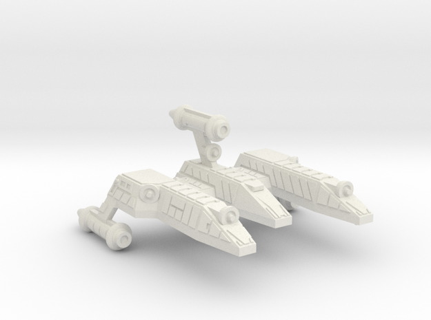 3788 Scale Lyran Refitted Serval War Cruiser Scout in White Natural Versatile Plastic