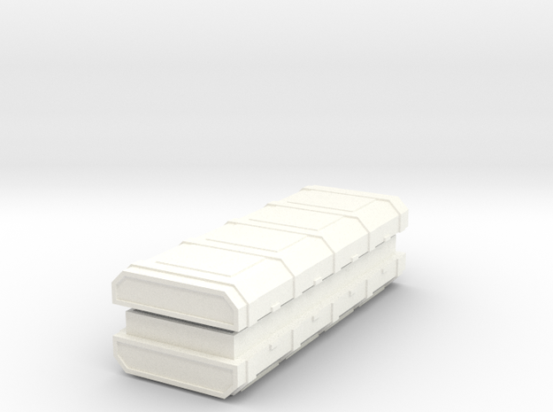 FTM Long Ammo Crate (hollow with lid) in White Processed Versatile Plastic