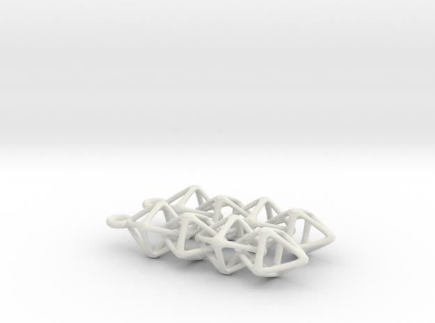 Octahedralink Earrings 3d printed