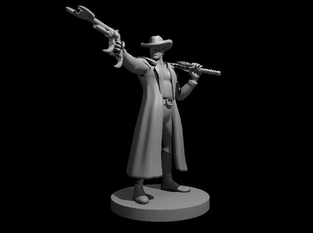 Half Orc Gunslinger with Demonic Sword and Six Sho in Smooth Fine Detail Plastic