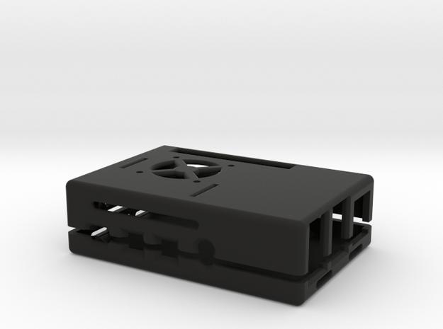 Raspberry Pi 4 B Maker Case in Black Natural Versatile Plastic