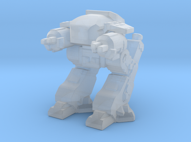 ED209 Robocop 18mm in Smooth Fine Detail Plastic