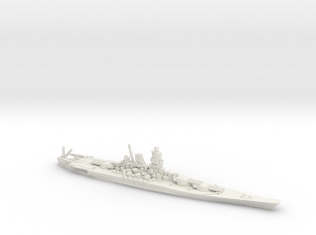 Japanese Yamato-Class Battleship in White Natural Versatile Plastic