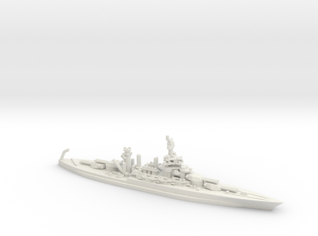 US Colorado-Class Battleship in White Natural Versatile Plastic