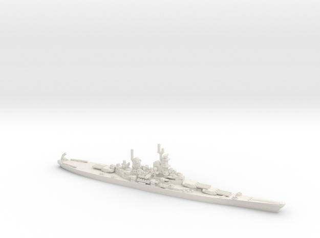 US Iowa Class Battlesahip in White Natural Versatile Plastic