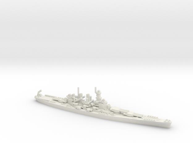 US North Carolina-Class Battleship in White Natural Versatile Plastic