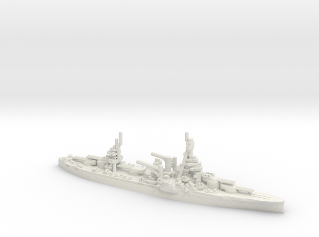 USS Texas (BB-35) (1945) in White Natural Versatile Plastic