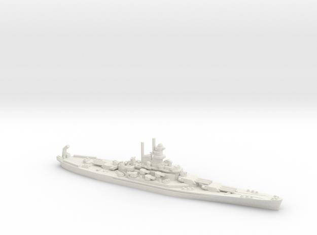 USS Alabama (BB-60) in White Natural Versatile Plastic