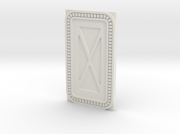 1:48 (O), 1:144 & 1:160 Scale Hoth Base Door in White Natural Versatile Plastic: 1:48 - O
