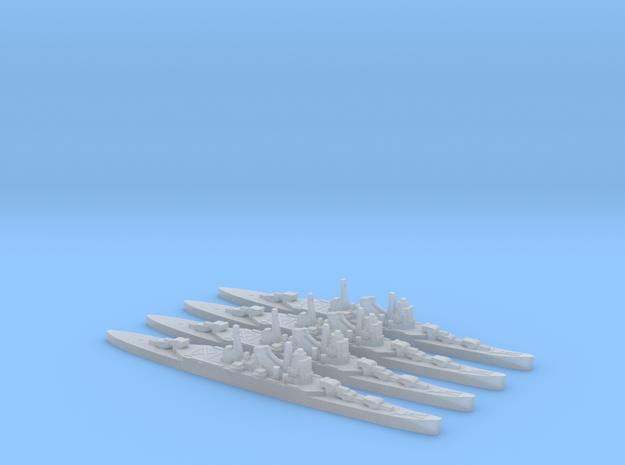 4pk IJN Mogami cruiser 1940 1:3000 WW2 in Smoothest Fine Detail Plastic