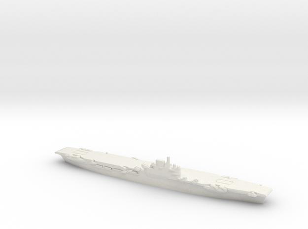 British Illustrious-Class Aircraft Carrier in White Natural Versatile Plastic: 1:1800