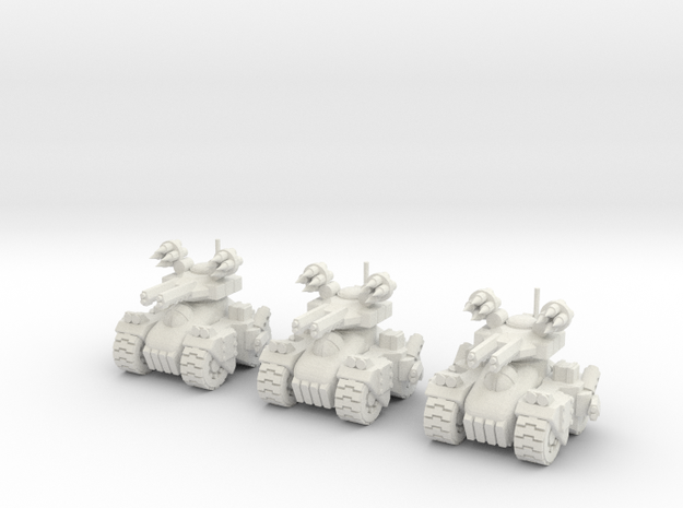 6mm - Firestorm Heavy Assault in White Premium Versatile Plastic