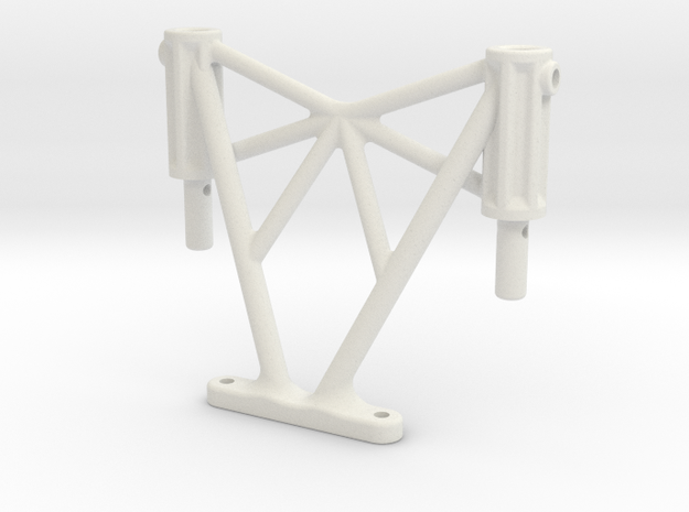 SCX10ii Rear Body Post Extender +28mm in White Natural Versatile Plastic
