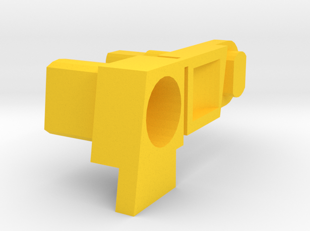 Galaxy MP5 Magazine Release Button and Hook in Yellow Processed Versatile Plastic
