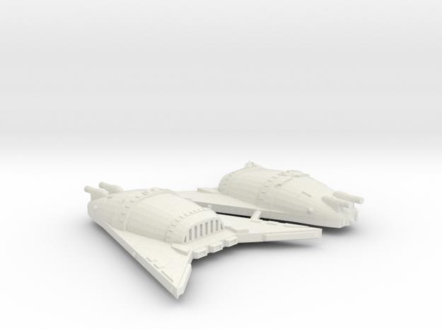 3125 Scale Hydran Rhino Hunter War Destroyers, 2 in White Natural Versatile Plastic