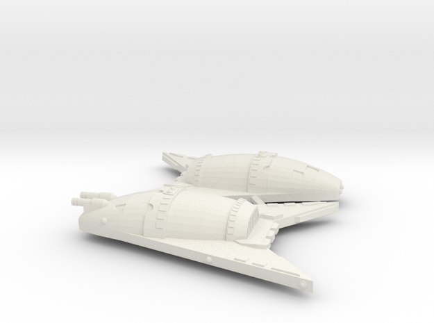 3125 Scale Hydran War Destroyers (2, Mixed) in White Natural Versatile Plastic