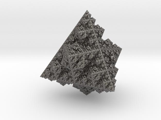 Sierpinski Tetrahedron (8.48 x 8.49 x 9 cm) in Polished Nickel Steel