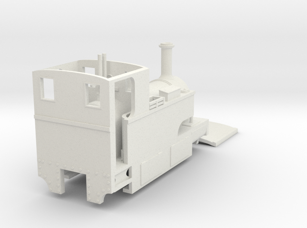 Bingley Works 009 Sidetank Cheaper model in White Natural Versatile Plastic