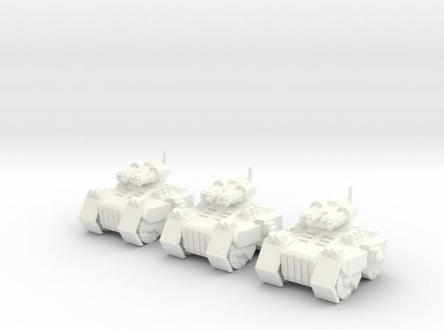 6mm - Siege Breaker Assault Tank in White Processed Versatile Plastic