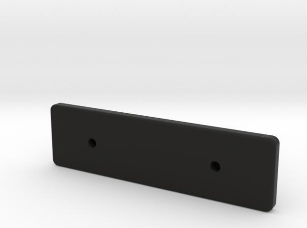 SCX24 Deadbolt 3 mm lower rear body mount in Black Premium Versatile Plastic