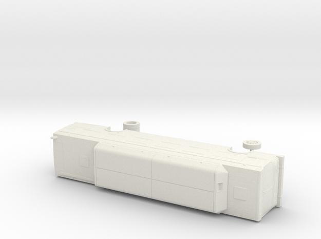 HO Scale Bus New Flyer C40LF Santa Cruz 2601-2602 in White Natural Versatile Plastic