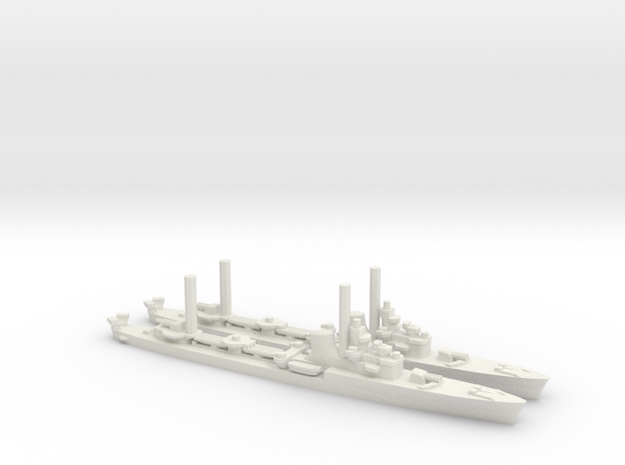 Italian Soldati-Class Destroyer (x2) in White Natural Versatile Plastic