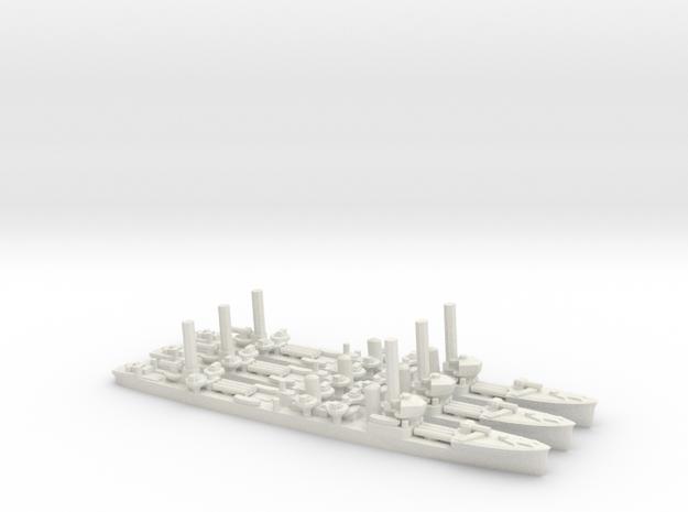 Japanese Mutsuki-Class Destroyer (x3) in White Natural Versatile Plastic