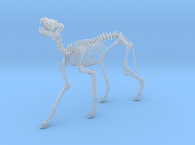 Skeletal Wolf (Howling) in Smooth Fine Detail Plastic