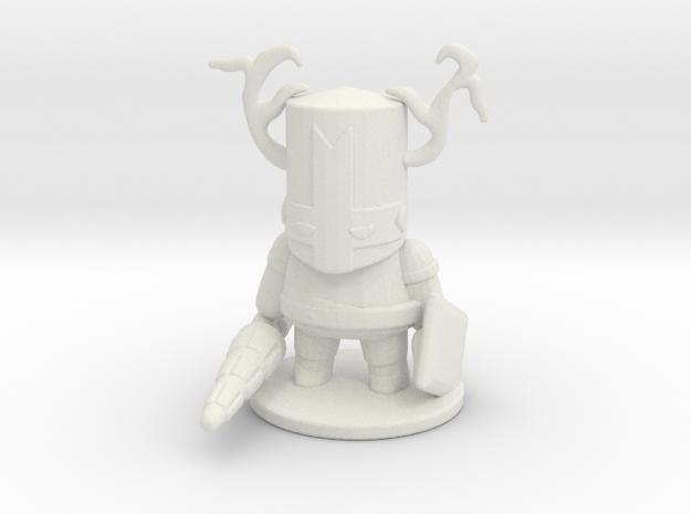 Castle Crashers Blacksmith Knight miniature games  in White Natural Versatile Plastic