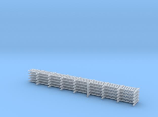 barriere roulers en N 108 mm 5 pièces in Smooth Fine Detail Plastic: 1:160 - N