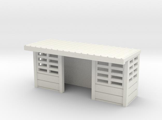 abris de quais beton SNCB 1 piece N in White Natural Versatile Plastic: 1:160 - N