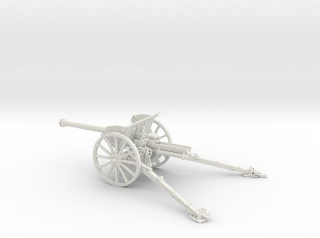 1/32 IJA Type 90 75mm Field Gun (horse drawn) in White Natural Versatile Plastic