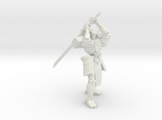Robot Skeleton Samurai 03 in White Premium Versatile Plastic