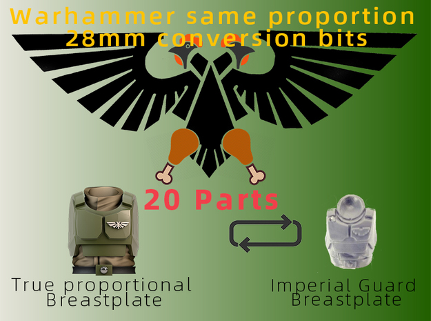Imperial Guard Normal Ratio Chest Armor in Smooth Fine Detail Plastic