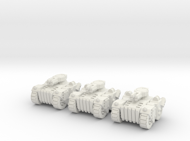 6mm - Urban Brute tank in White Natural Versatile Plastic
