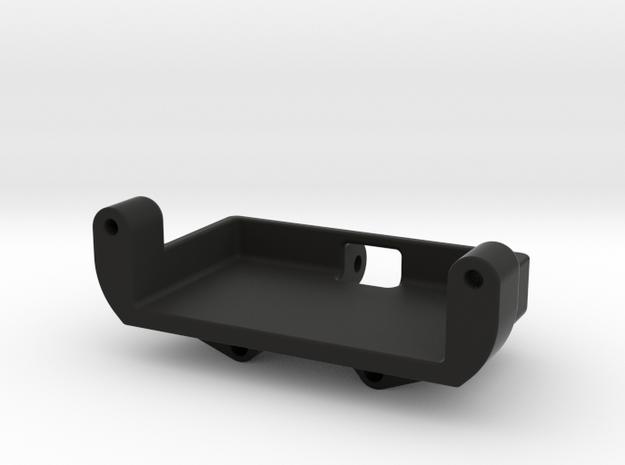 Axial SCX24 Metal gear Servo mount for Emax ES08M in Black Natural Versatile Plastic