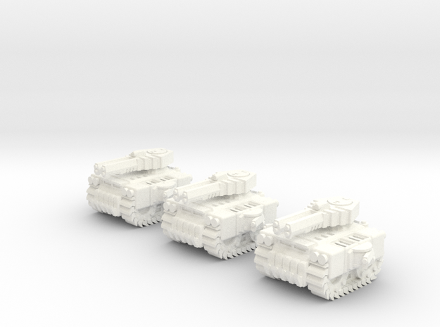 6mm - Spike All Terrain Tracked Tank in White Processed Versatile Plastic