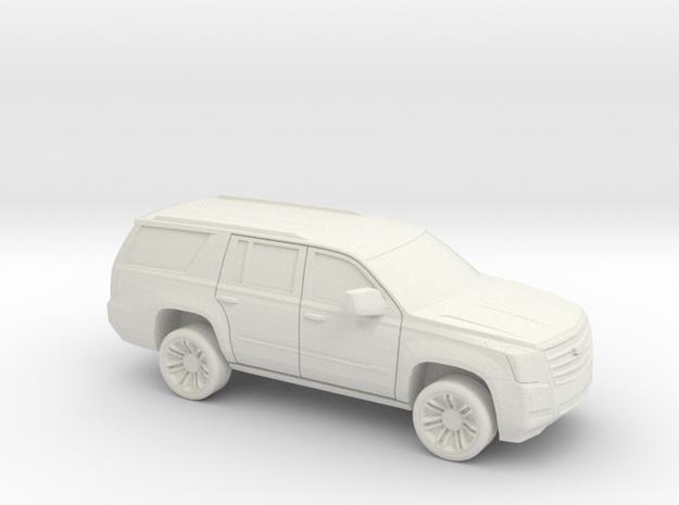 1/72 2015-18 Cadillac Escalade in White Natural Versatile Plastic