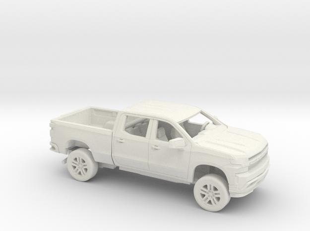 1/72 2019 Chevy Silverado Crew Reg Bed Kit in White Natural Versatile Plastic