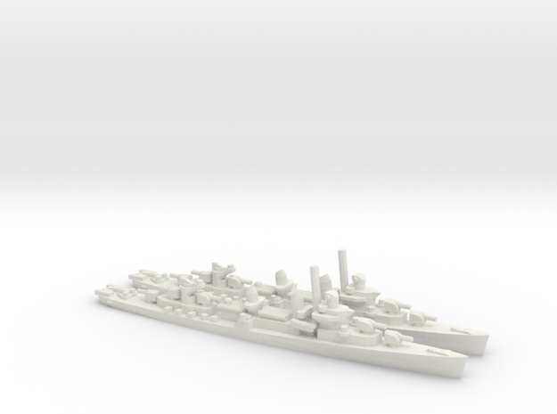 US Fletcher-Class Destroyer (v2) (x2) in White Natural Versatile Plastic