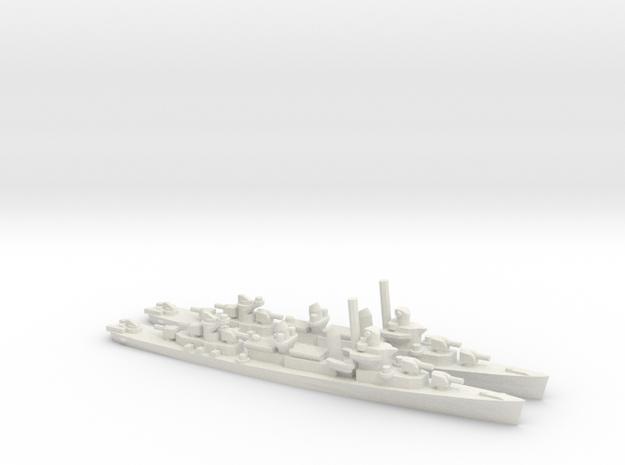 US Fletcher-Class Destroyer (V1) in White Natural Versatile Plastic: 1:1800