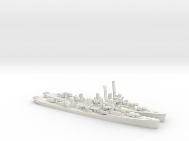 US Porter-Class Destroyer (x2) in White Natural Versatile Plastic