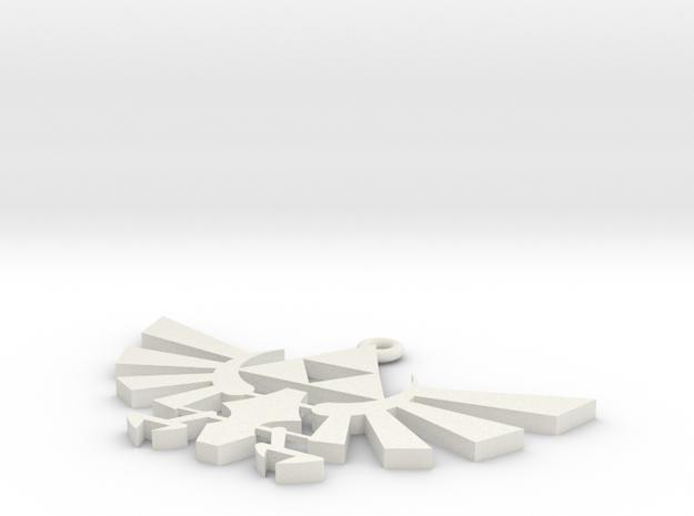 Zelda Triforce Necklace in White Natural Versatile Plastic