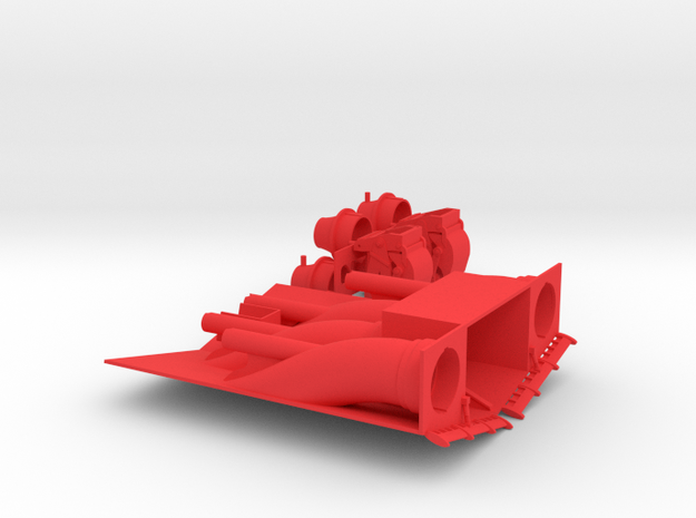 1/96 scale Freedom Class Water-Jet Block MTB Hull in Red Processed Versatile Plastic