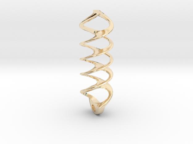 warp in 14k Gold Plated Brass